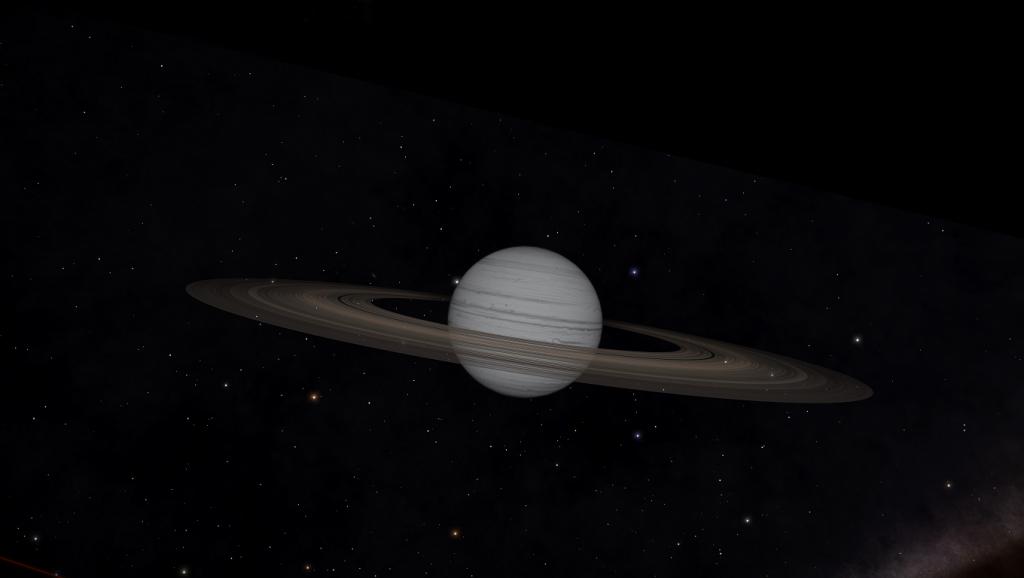 Une planète gazeuse et ses anneaux de poussières